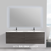 BAI 0769 Wall Hung 59-inch Bathroom Vanity in Graphite Wood Finish
