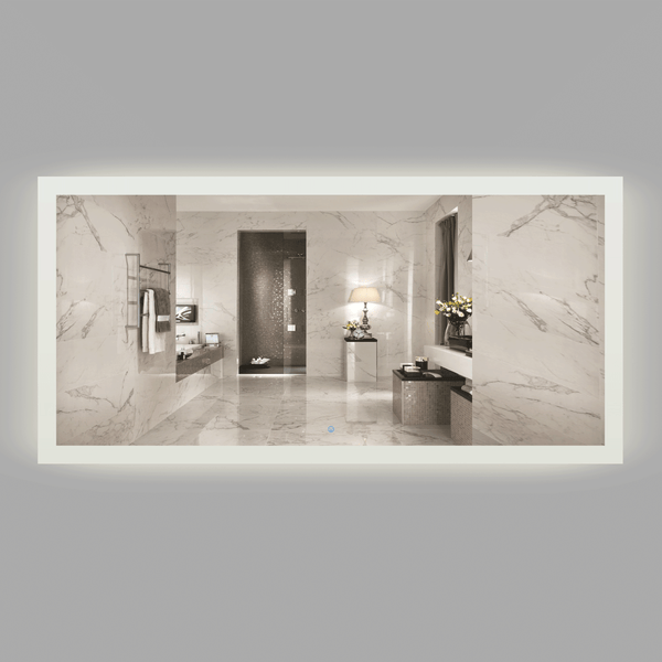 BAI 0799 LED 73-inch Bathroom Mirror with Frosted Edge