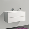 BAI 0812 Wall Hung 42-inch Bathroom Vanity in Matte White Finish