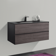 BAI 0817 Wall Hung 42-inch Bathroom Vanity in Graphite Wood Finish
