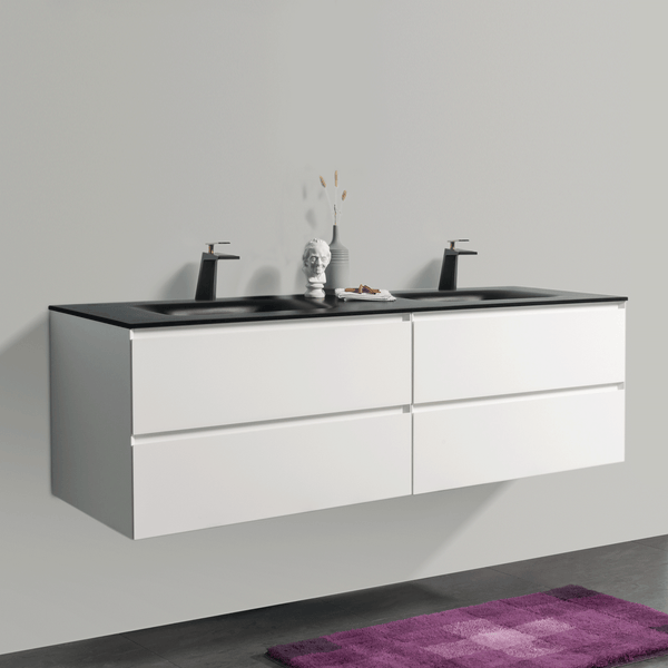 BAI 0831 Wall Hung 68-inch Bathroom Vanity in Matte White Finish