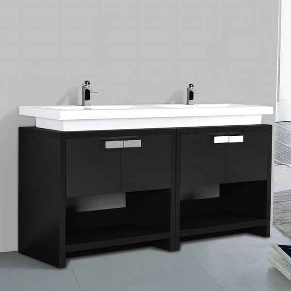 BAI 0859 Vanity Cabinet / Black Finish / 63""
