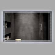 BAI 0864 LED 57-inch Bathroom Mirror with Striped Edge