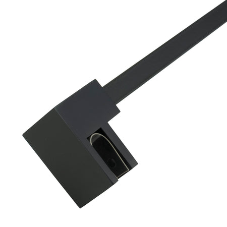 BAI 0935 Support Bar for Shower Glass Panel - 47inch (Matte Black)