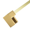 BAI 0937 Support Bar for Shower Glass Panel - 47inch (Brushed Gold)