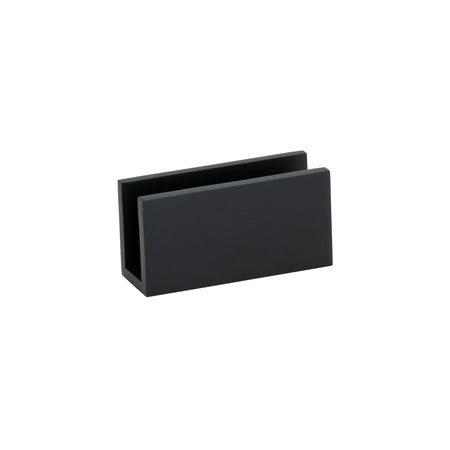 BAI 0939 Fixed Glass Shower Panel Bracket (Matte Black)