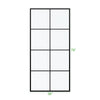 BAI 0947 Frameless 38-inch Ultra Clear Single Shower Glass Panel with Silk Printed Window-Pane