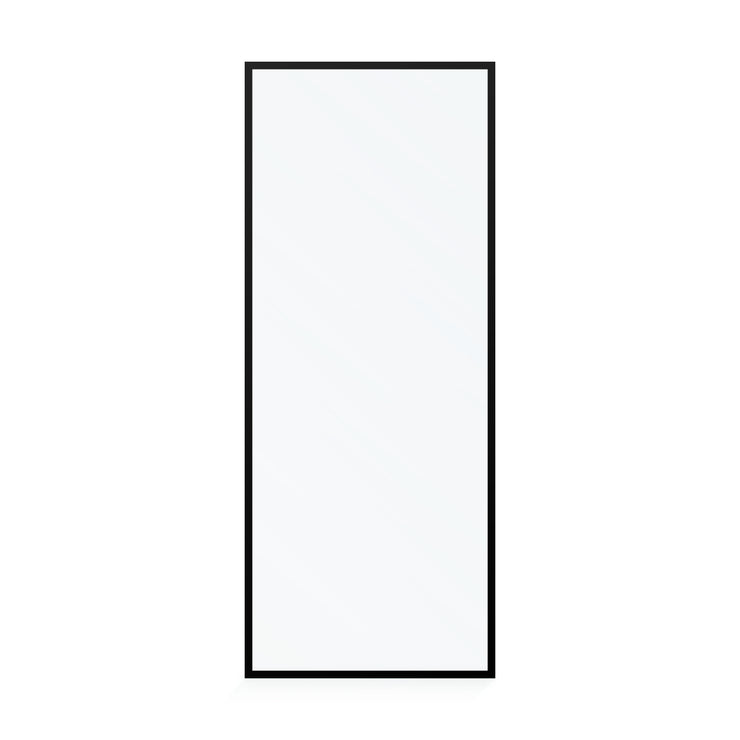 BAI 0950 Frameless 32-inch Ultra Clear Single Shower Glass Panel with Silk Printed Frame