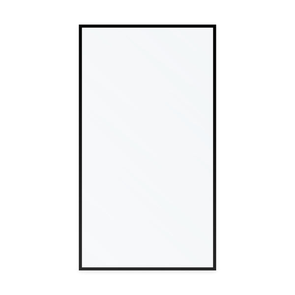 BAI 0952 Frameless 44-inch Ultra Clear Single Shower Glass Panel with Silk Printed Frame