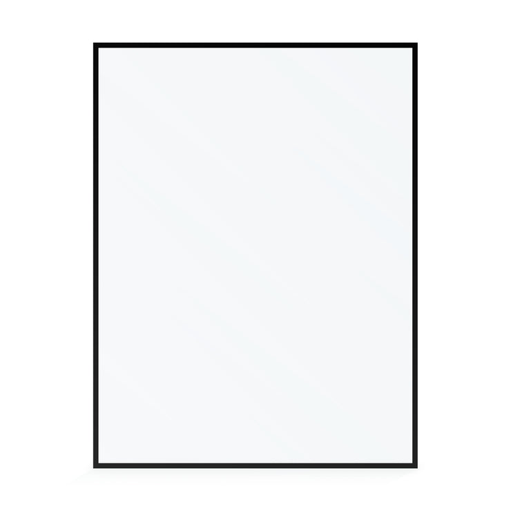 BAI 0953 Frameless 60-inch Ultra Clear Single Shower Glass Panel with Silk Printed Frame