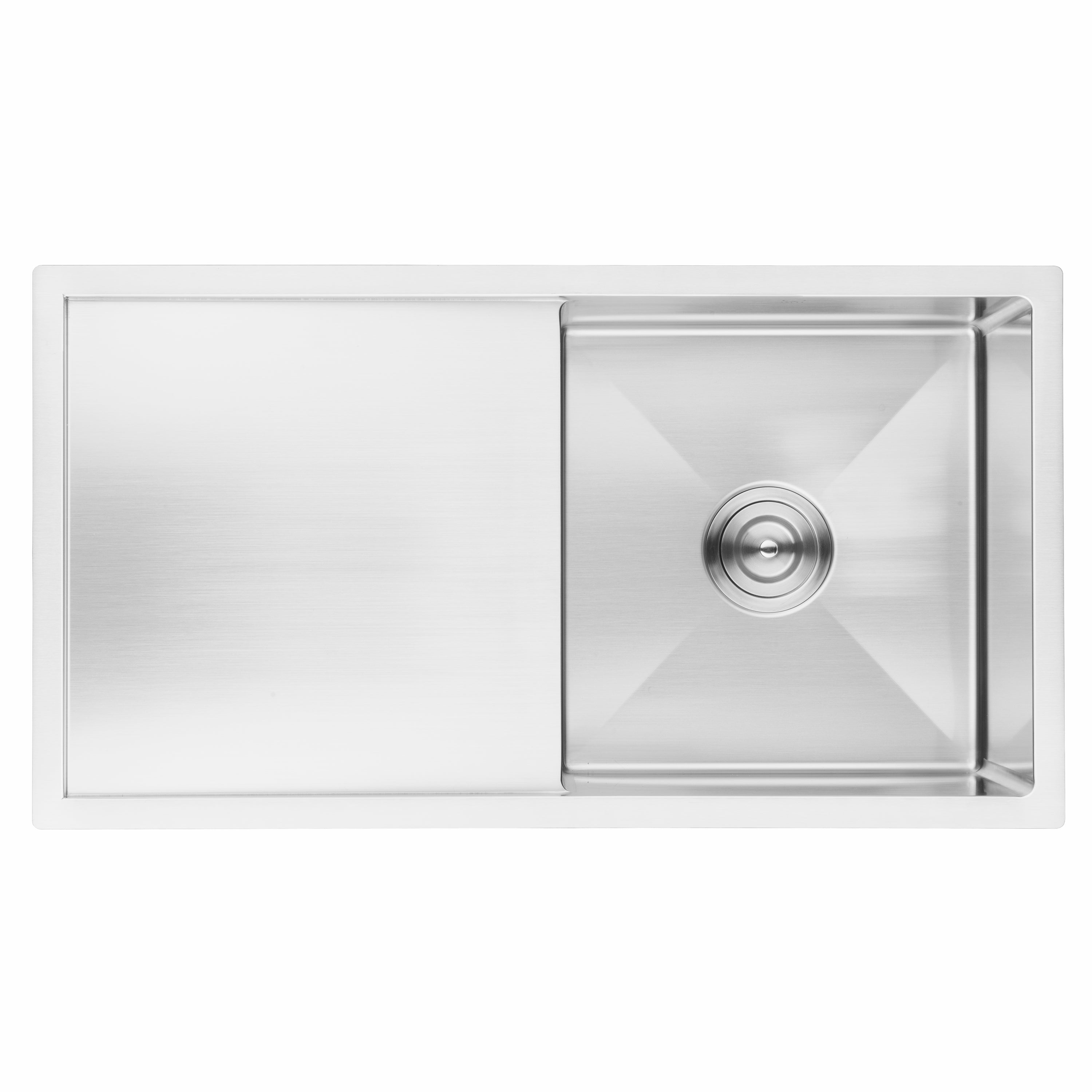 Bai 1230 Handmade 33 Inch Undermount Single Bowl With Drainboard 16 Gauge Stainless Steel Kitchen Sink Megabai