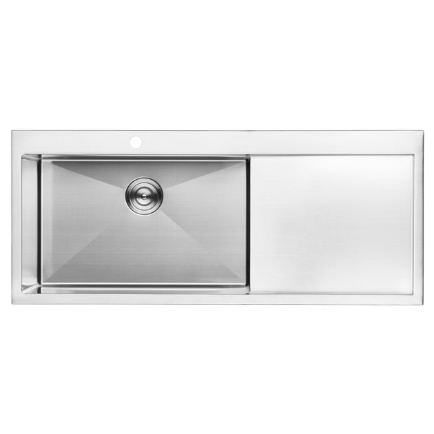 american kitchen sink bai 1233 48 quot stainless kitchen sink single bowl 1233
