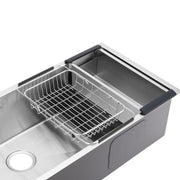 BAI 1249 Stainless Steel 16 Gauge Kitchen Sink Handmade 45-inch Undermount Single Bowl