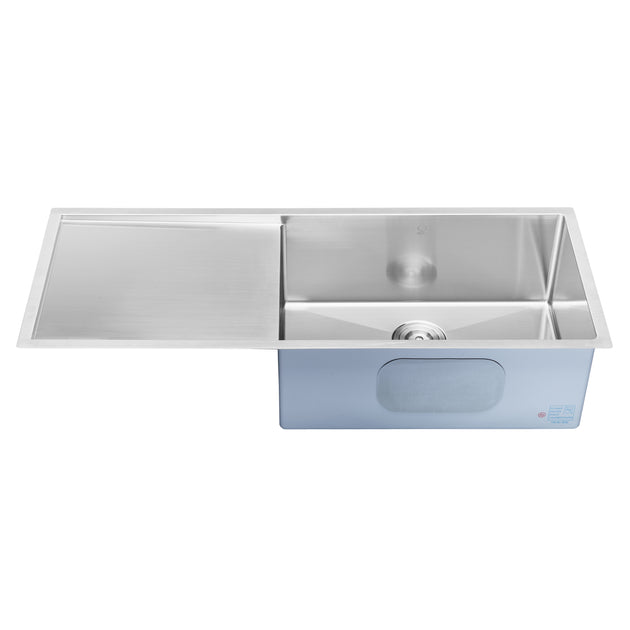 angled kitchen sink bai 1252 45 quot stainless kitchen sink single bowl 1252