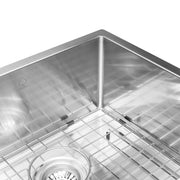 "BAI 1254 - 45"" Handmade Stainless Steel Kitchen Sink Double Bowl With Drainboard Undermount 16 Gauge"