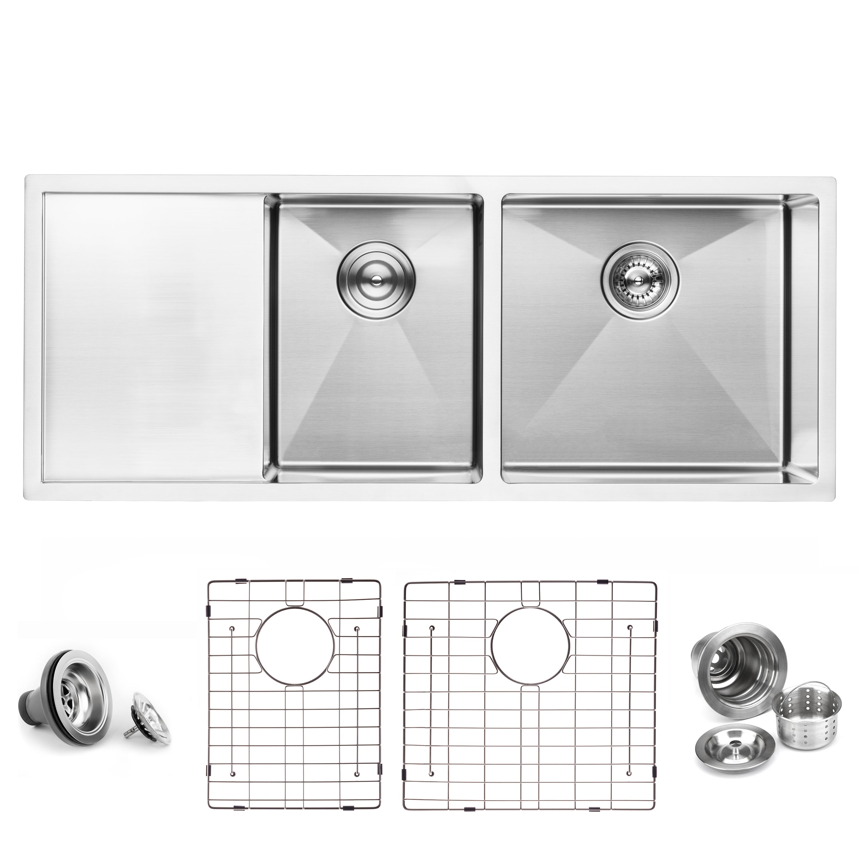 Image of: Kitchen Skins Double Bowl Kitchen Sinks Stainless Steel