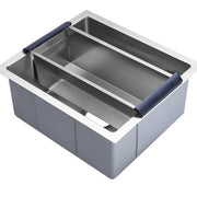 BAI 1256 Stainless Steel 16 Gauge Kitchen Sink Handmade 16-inch Undermount Single Bowl