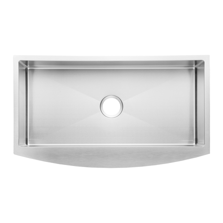 BAI 1298 Handmade 36-inch Farmers Single Bowl 16 Gauge Stainless Steel Kitchen Sink