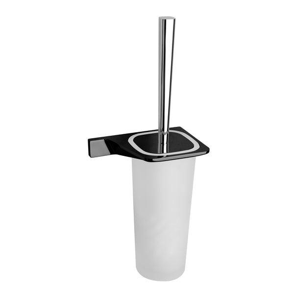 BAI 1517 Toilet Brush with Holder in Matte Black Finish