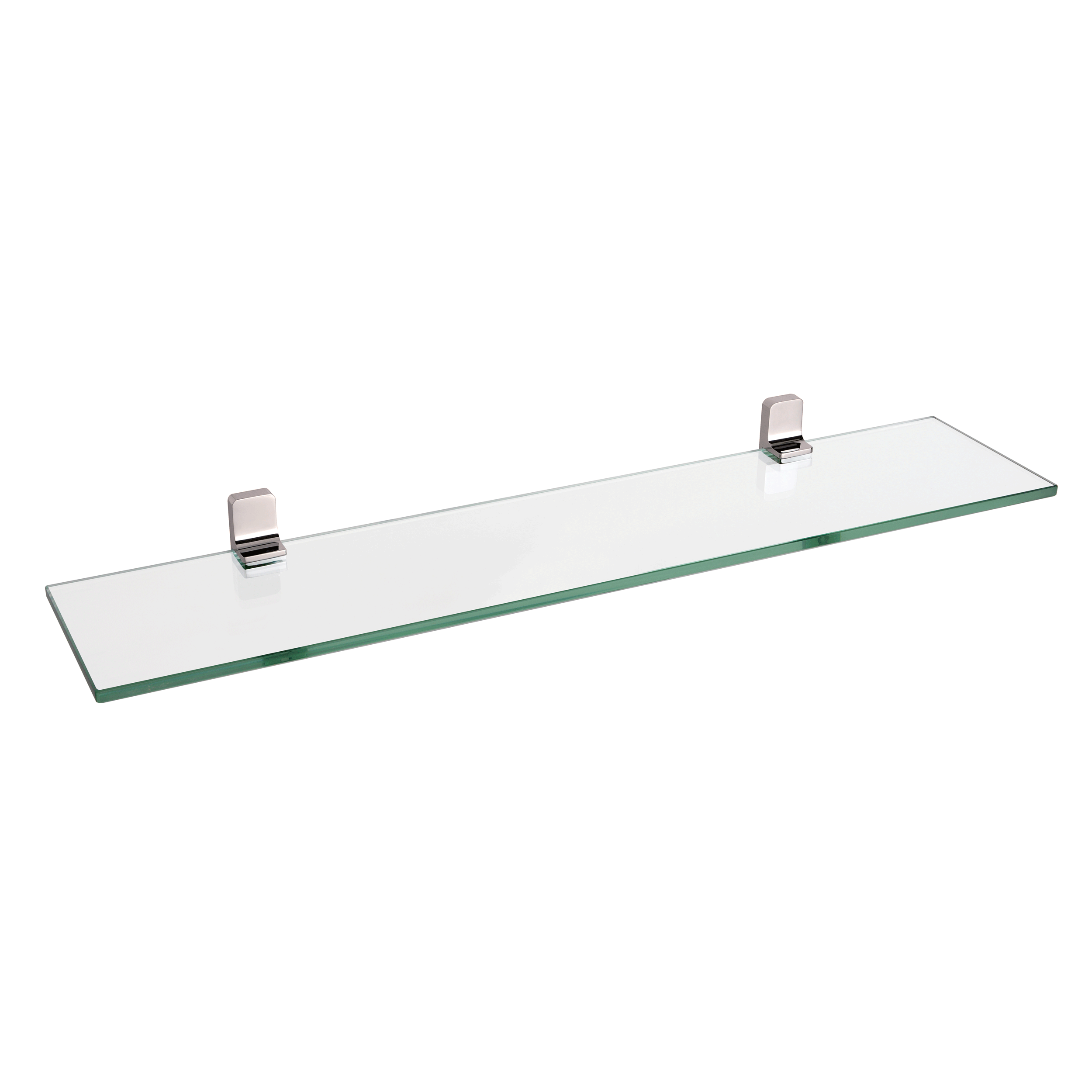 Peachy Bai 1524 Glass Shelf In Brushed Nickel Finish Download Free Architecture Designs Scobabritishbridgeorg