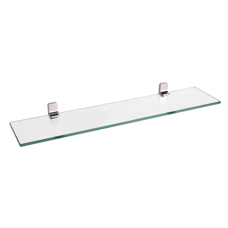 BAI 1524 Glass Shelf in Brushed Nickel Finish