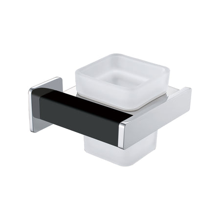 BAI 1531 Toothbrush Holder in Matte Black and Polished Chrome Finish