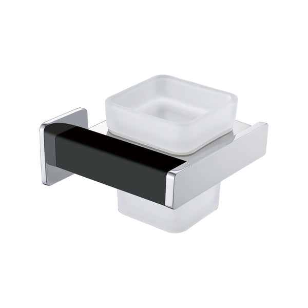 BAI 1531 Toothbrush Holder / Matte Black / Polished Chrome