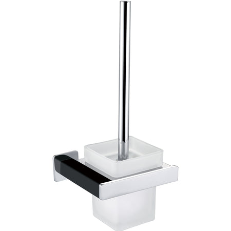 BAI 1532 Toilet Brush With Holder / Matte Black / Polished Chrome