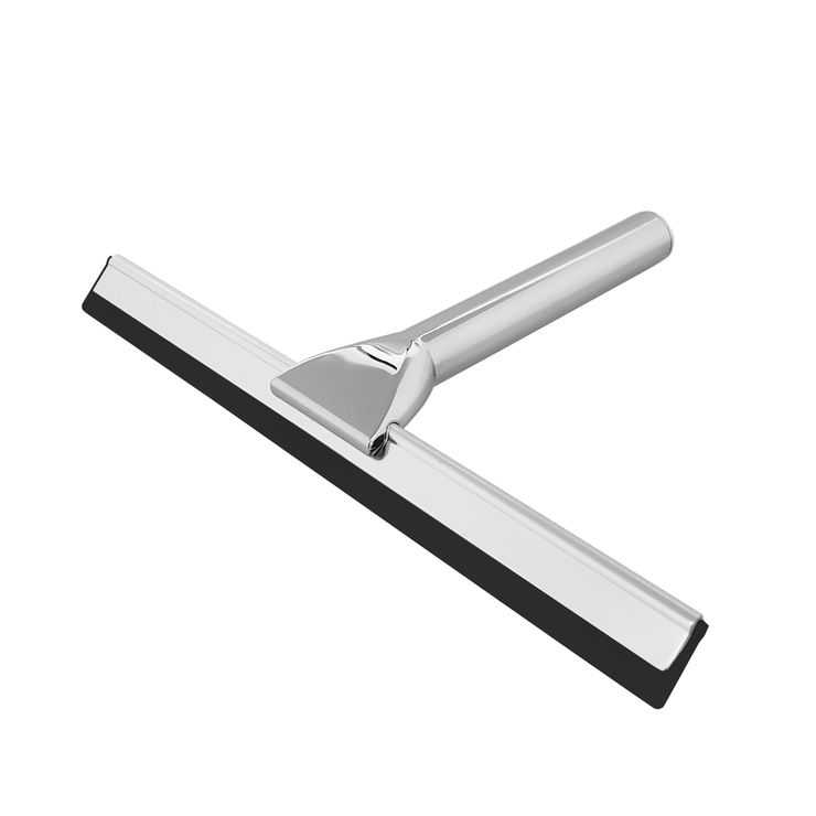 BAI 1552 Stainless Steel Bathroom Shower Squeegee with Holder in Polished Chrome Finish