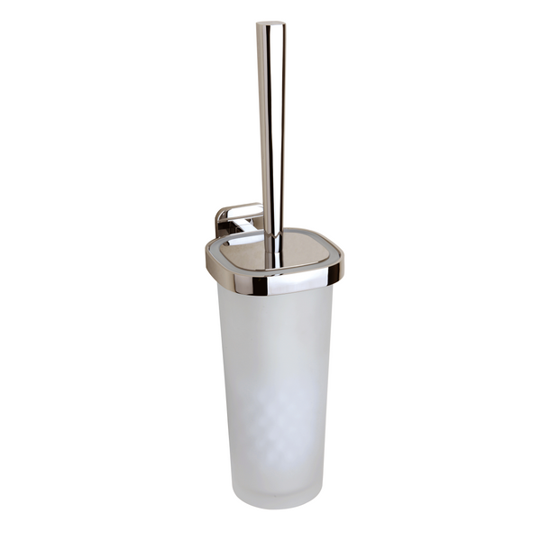 BAI 1561 Toilet Brush with Holder in Brushed Nickel Finish