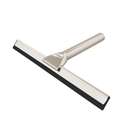 BAI 1562 Stainless Steel Bathroom Shower Squeegee with Holder in Brushed Nickel Finish