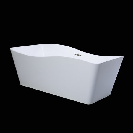 BAI 1603 Acrylic Freestanding Soaking Bathtub 59 Inches