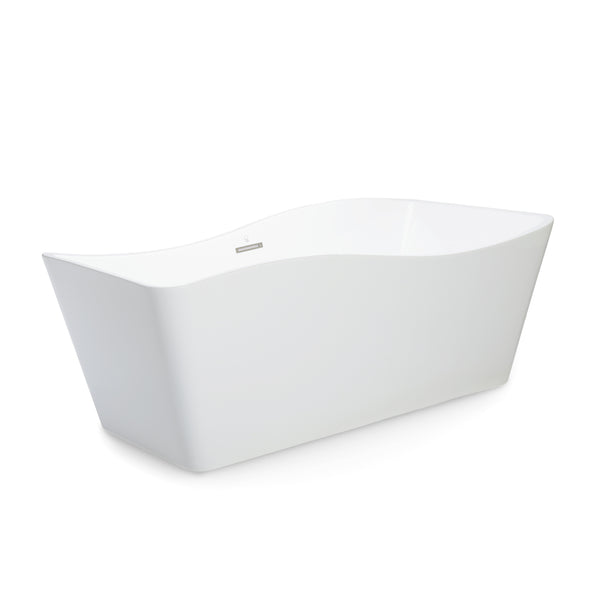 BAI 1603 Acrylic Freestanding Soaking Bathtub 59-inches