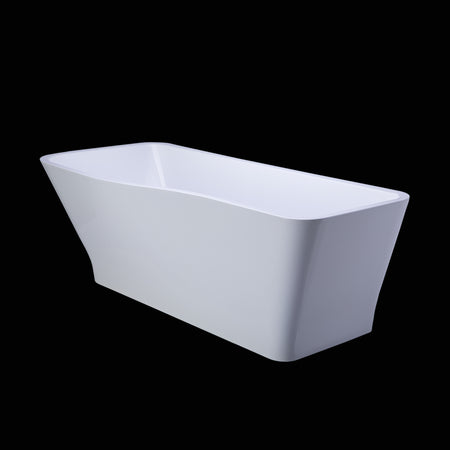 BAI 1605 Acrylic Freestanding Soaking Bathtub 61 Inches
