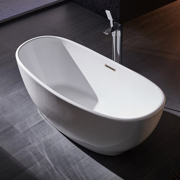 BAI 1611 Acrylic Freestanding Soaking Bathtub 59-inches