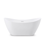BAI 1613 Acrylic Freestanding Soaking Bathtub 67-inches