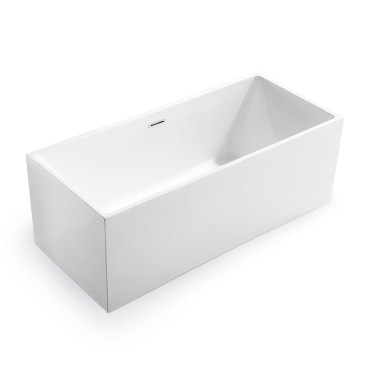 BAI 1625 Acrylic Freestanding Soaking Bathtub 59-inches