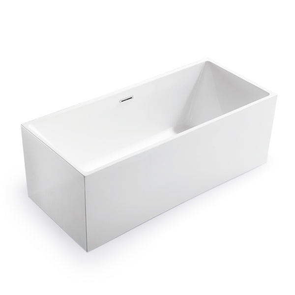BAI 1615 Acrylic Freestanding Soaking Bathtub 67-inches