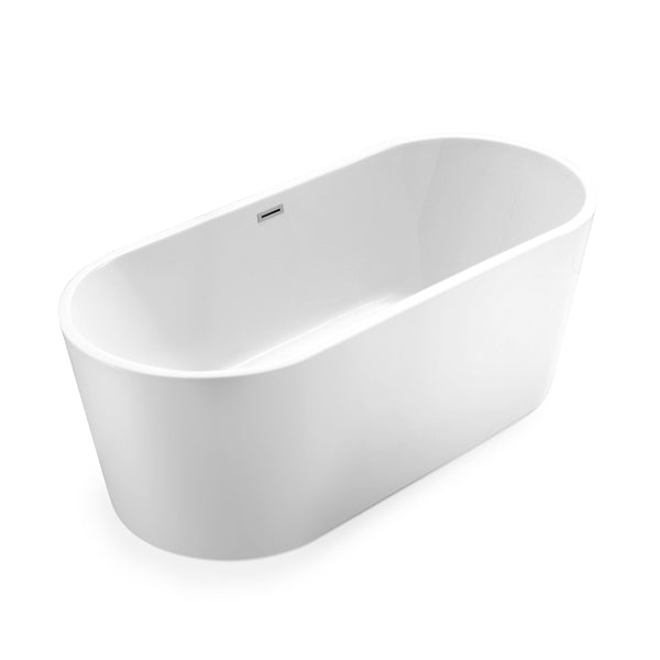 BAI 1616 Acrylic Freestanding Soaking Bathtub 67 Inches