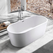 BAI 1617 Acrylic Freestanding Soaking Bathtub 59 Inches