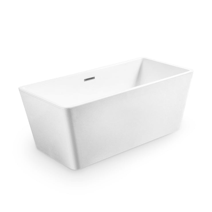 BAI 1618 Acrylic Freestanding Soaking Bathtub 59 Inches