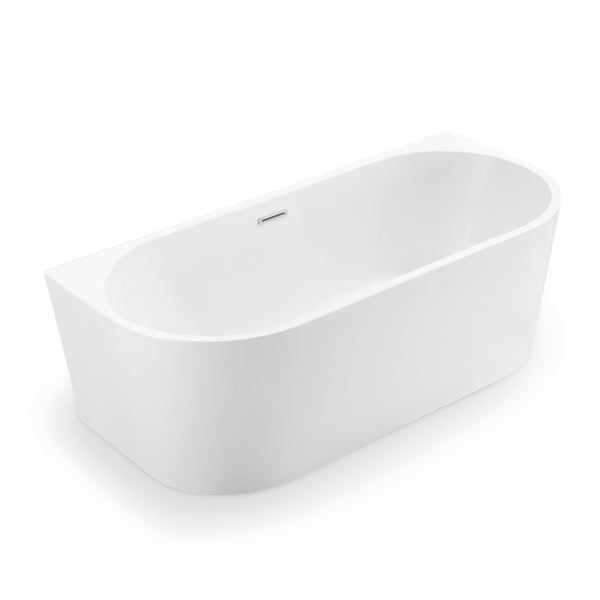 BAI 1619 Acrylic Freestanding Wall Touch Soaking Bathtub 67-inches