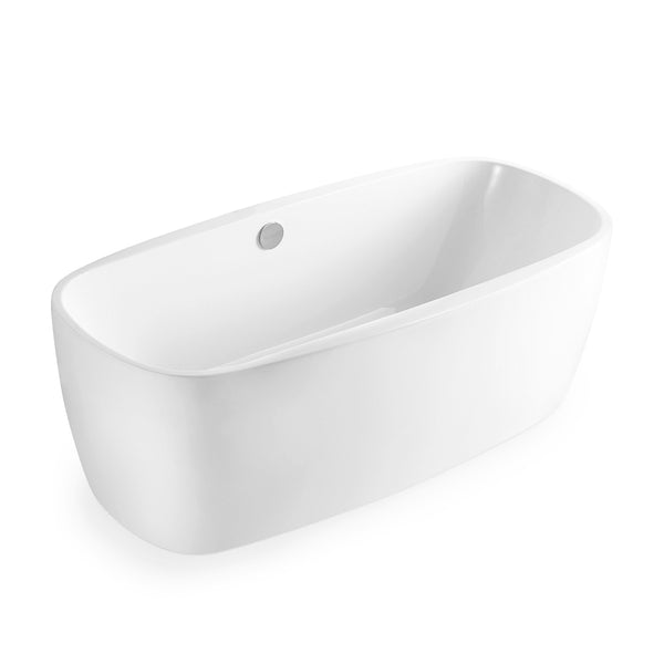 BAI 1621 Acrylic Freestanding Soaking Bathtub 67 Inches
