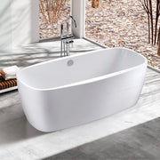 BAI 1621 Acrylic Freestanding Soaking Bathtub 67-inches