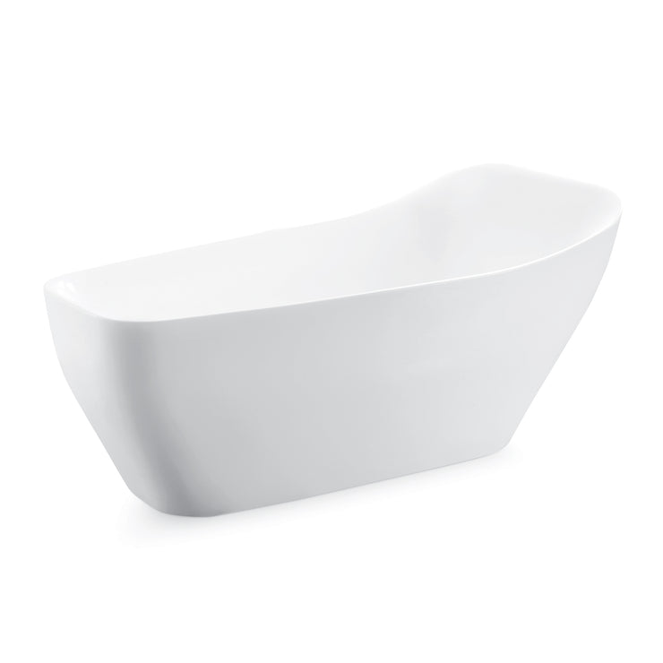 BAI 1624 Acrylic Freestanding Soaking Bathtub 67-inches