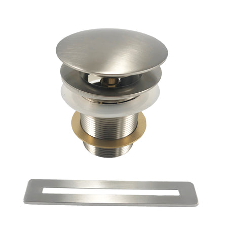 BAI 1626 Brushed Nickel Pop-up Drain Replacement for Freestanding Bathtubs