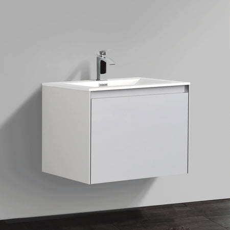 BAI 1707 Wall Hung 24-inch Bathroom Vanity in Gloss White Finish