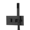 BAI 2101 Concealed Thermostatic Shower Mixer Valve with Handheld Shower in Matte Black Finish