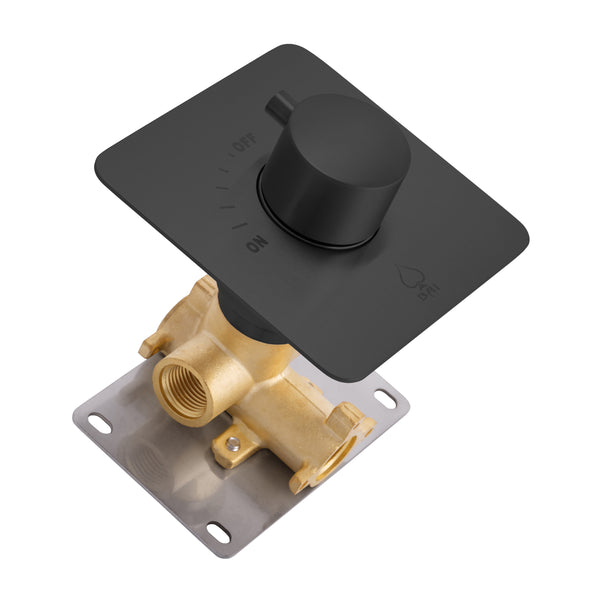 BAI 2104 Concealed 1 Function ON/OFF Shower Valve in Matte Black Finish