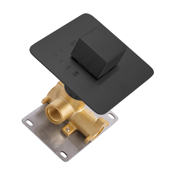 BAI 2106 Concealed 1 Function ON/OFF Shower Valve in Matte Black Finish